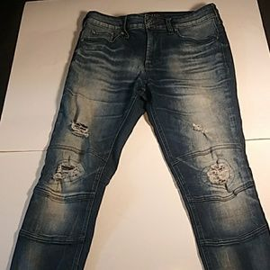 PacSun active stretch Stacked Skinny moto 30X30
